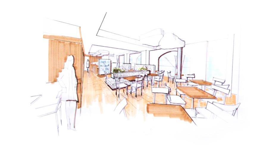Innenarchitektur skizze  innenarchitektur-stranger-skizze-cafe-haidl-altenmarkt ...