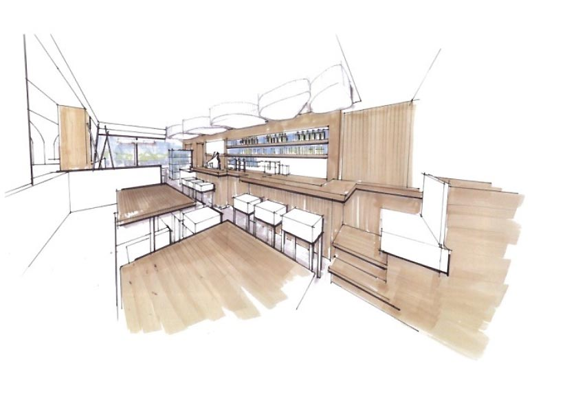 Innenarchitektur Cafe innenarchitektur skizze cafe harzite com